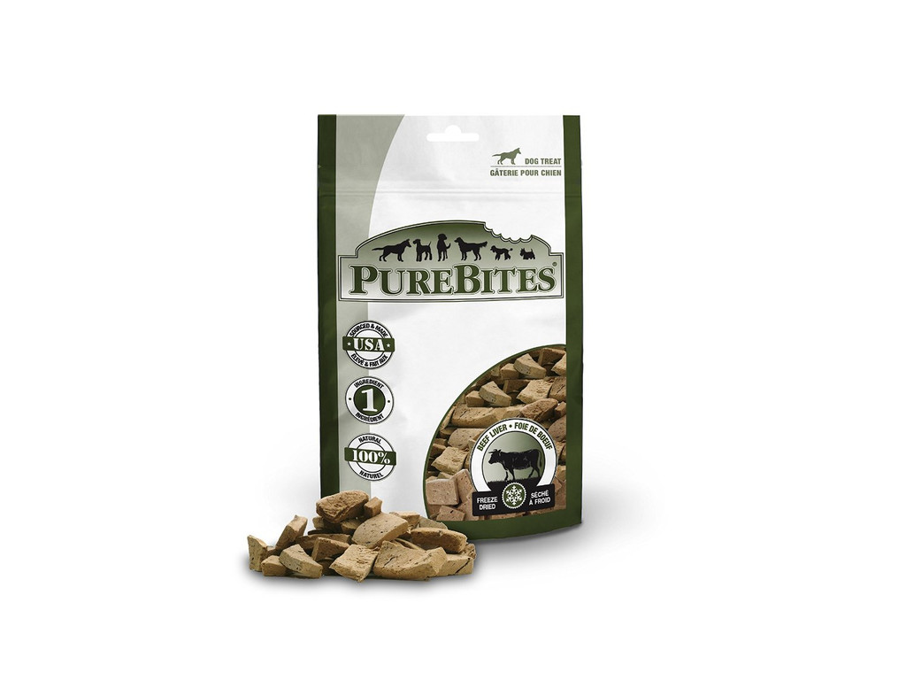 PureBites Beef Liver Freeze Dried Treats for Dogs 2 Ounces