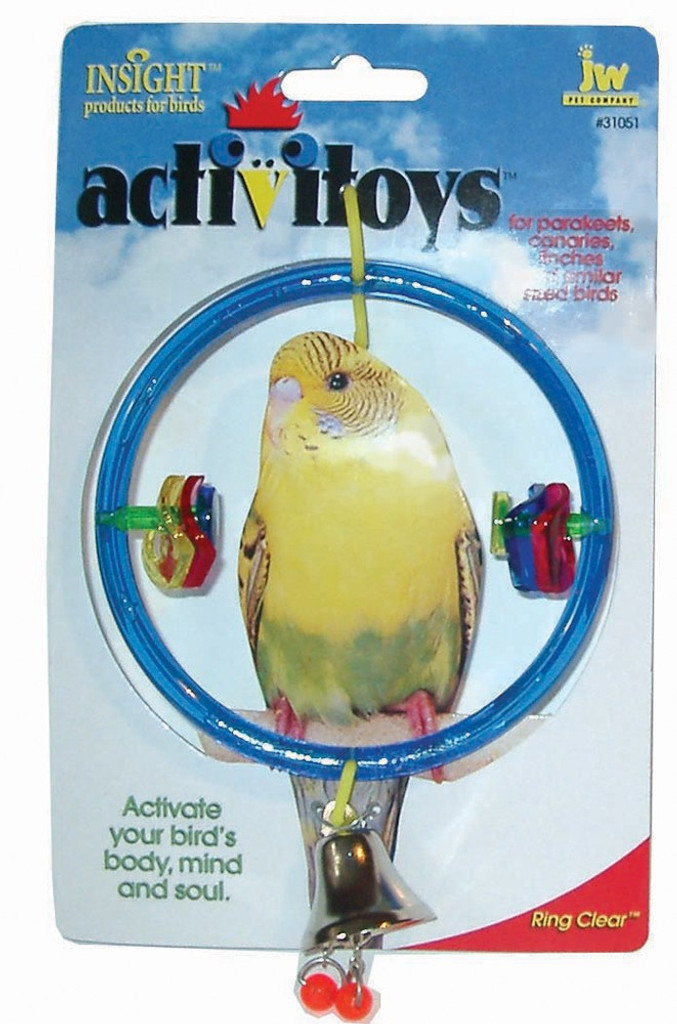 JW ActiviToy Ring Clear Bird Toy Small/Medium