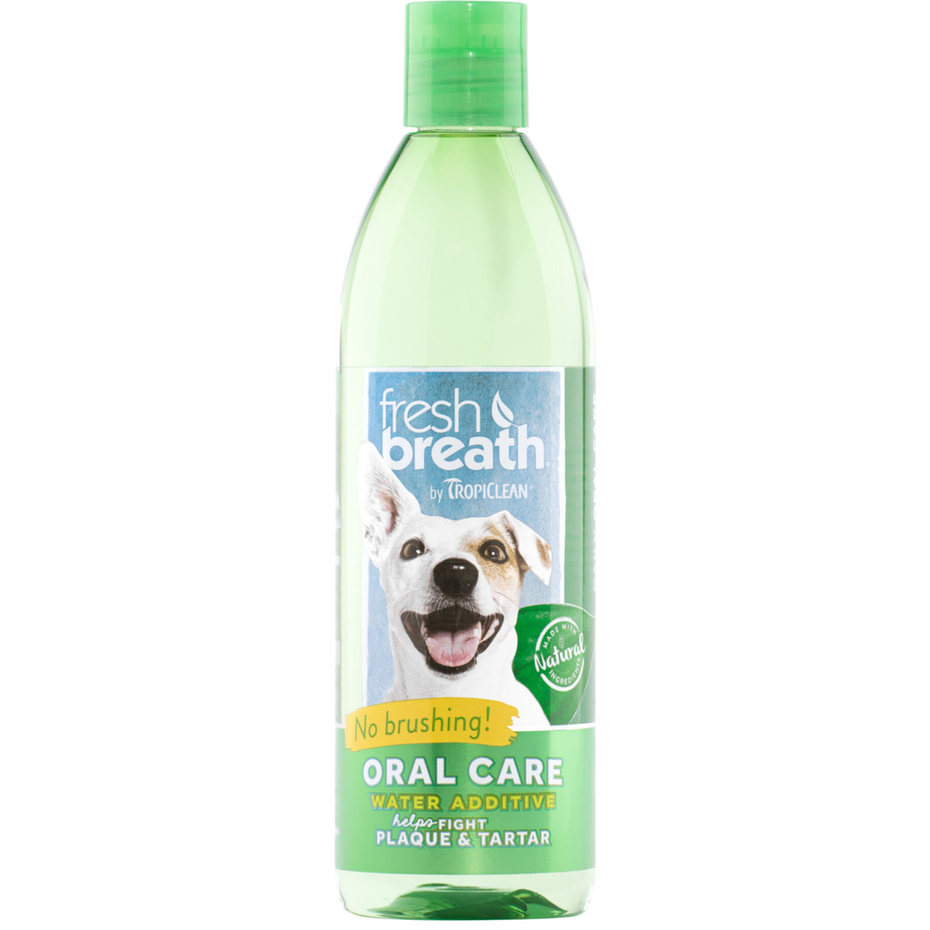 TropiClean Fresh Breath Oral Care Water Additive for Dogs 16 ounce