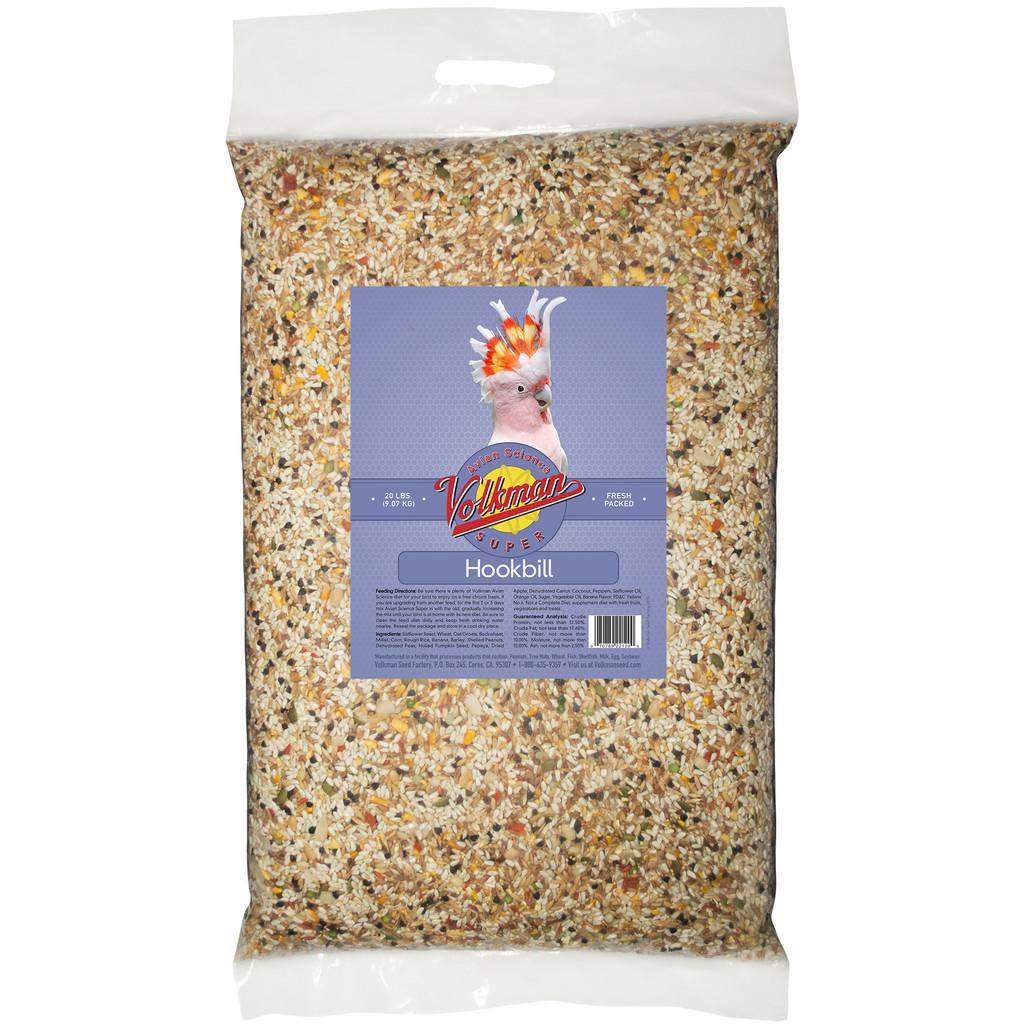 Volkman Seed Avian Science Super Hookbill Nutritionally Balanced Diet Food 20lbs