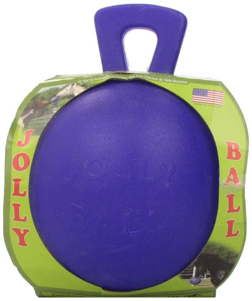 Horsemen's Pride Tug N Toss Jolly Ball Extra Large Blue Toy for Dogs Horses
