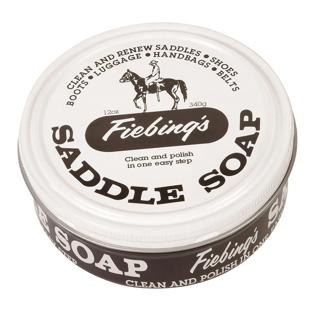 Fiebing's Saddle Soap White 12 oz | Polish and Clean Leather | Revives Color