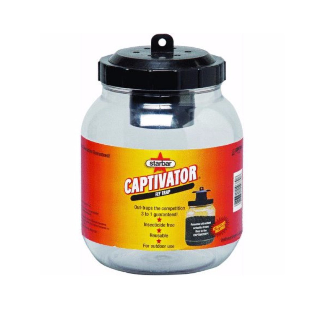 Starbar Captivator Fly Trap | 2 Quart Container | Multiple Attractants