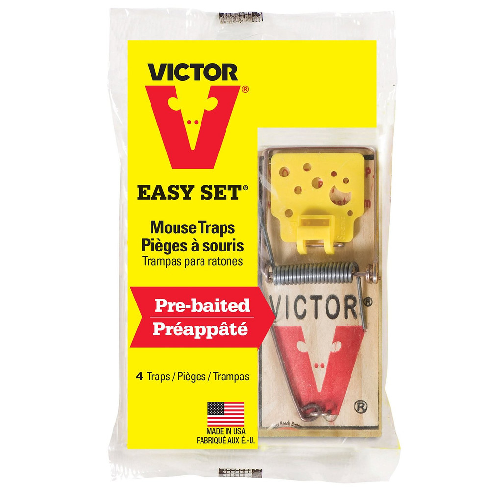 Victor Trap Mouse Easy Set 4 Pack M032 Woodstream Disposable
