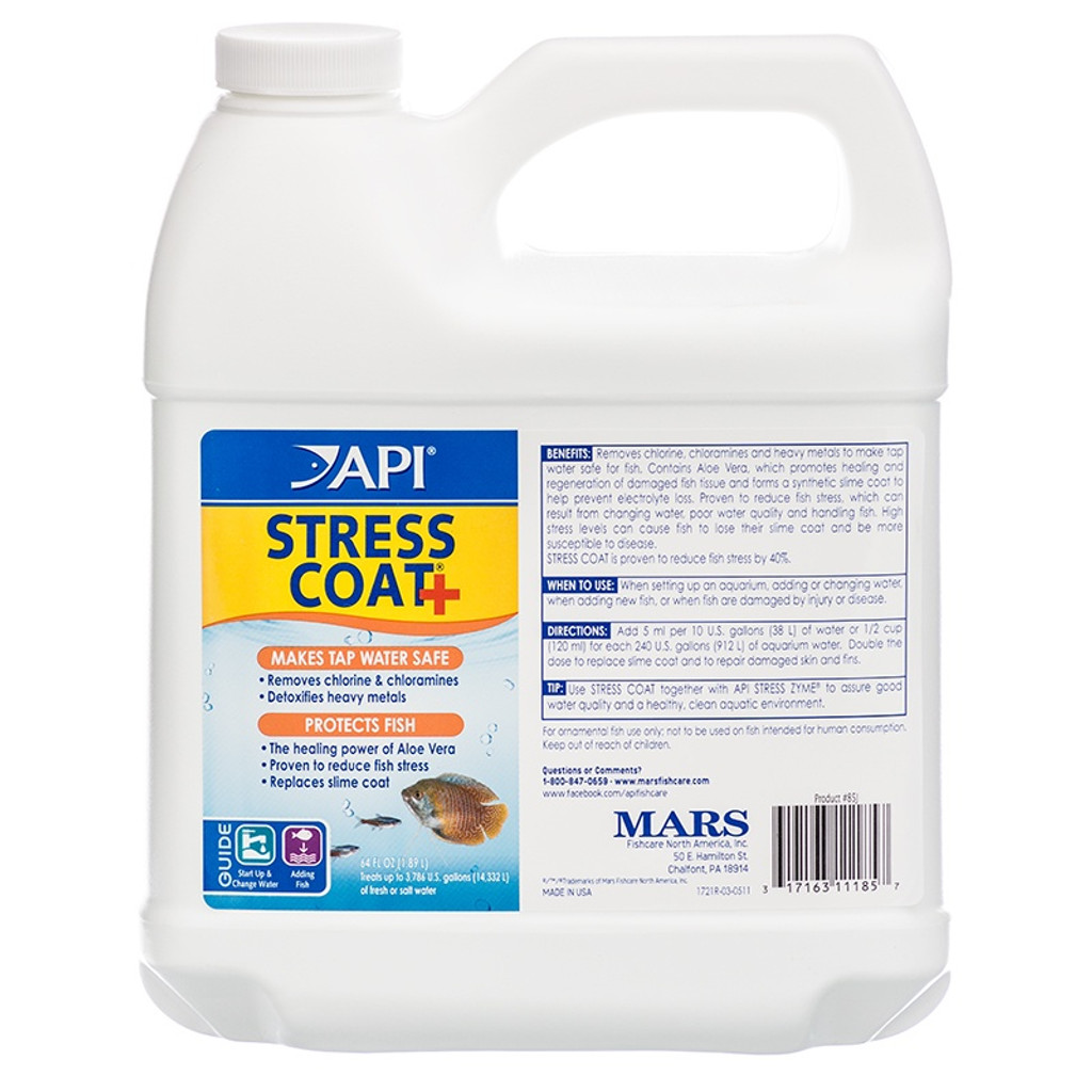 API Stress Coat Plus Tap Water Conditioner 64 Ounce