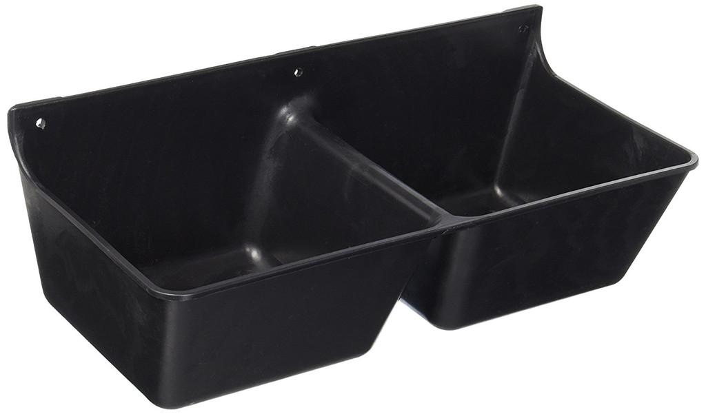 Miller Manufacturing Mineral Feeder Dispense Tough DuraFlex Plastic Black 3.5qt