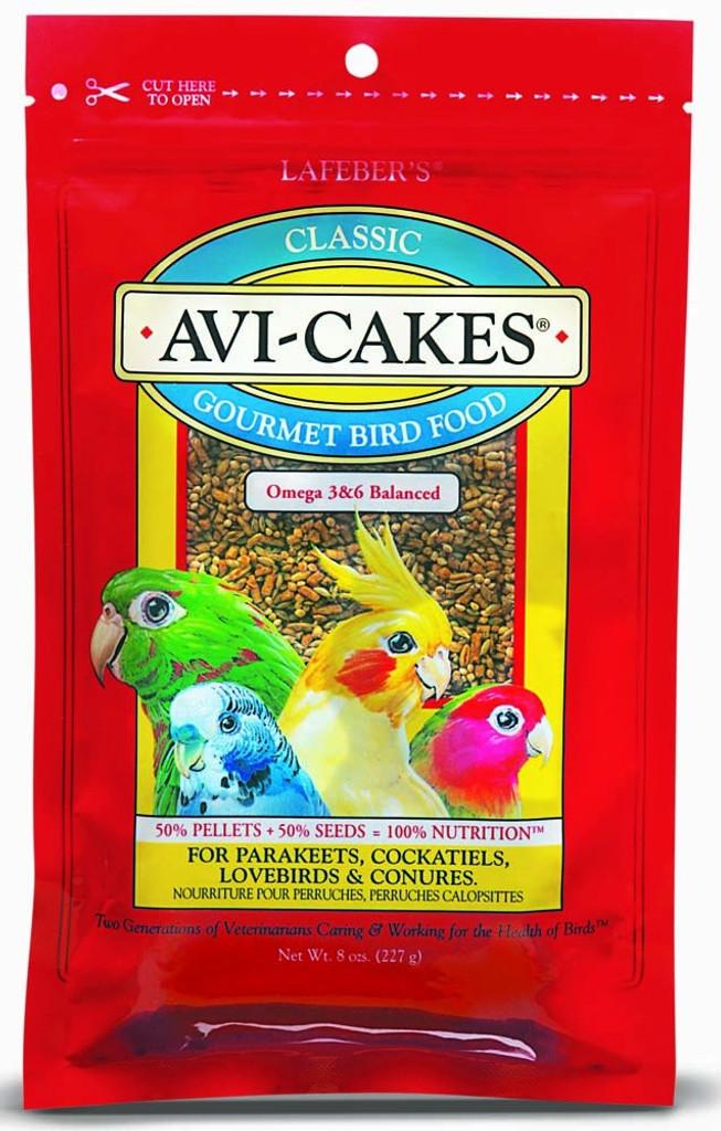 Lafeber Avi-Cakes Classic Gourment Bird Food 8 oz | Nutritious Foraging Fun