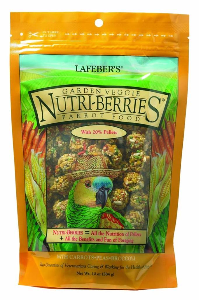 Lafeber Garden Veggie Nutri-Berries Parrot Food 10 oz | Nutritious Foraging Fun
