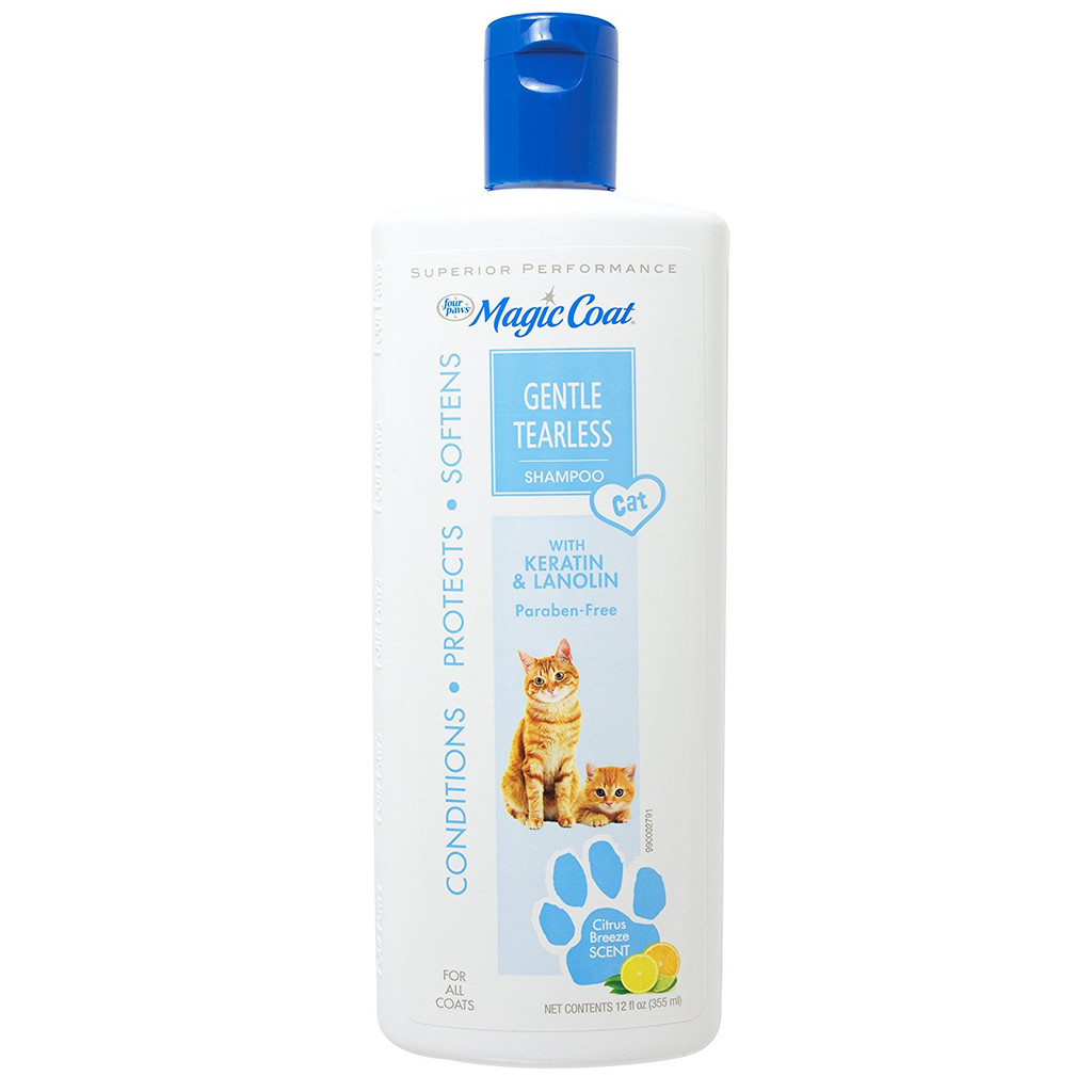 Four Paws Magic Coat Tearless Shampoo 12 oz | Gentle Formula for Cats & Kittens