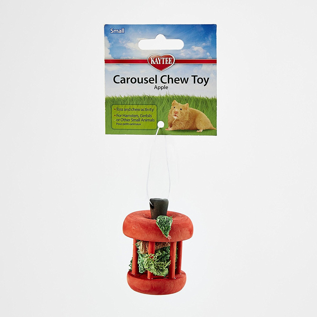 Kaytee Carousel Chew Toy Apple | Interactive Wooden Toy for Small Animals