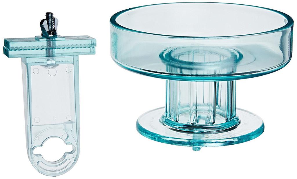 Lixit Quick Lock Bird Bath | Aqua Translucent | Fits All Wire Cages