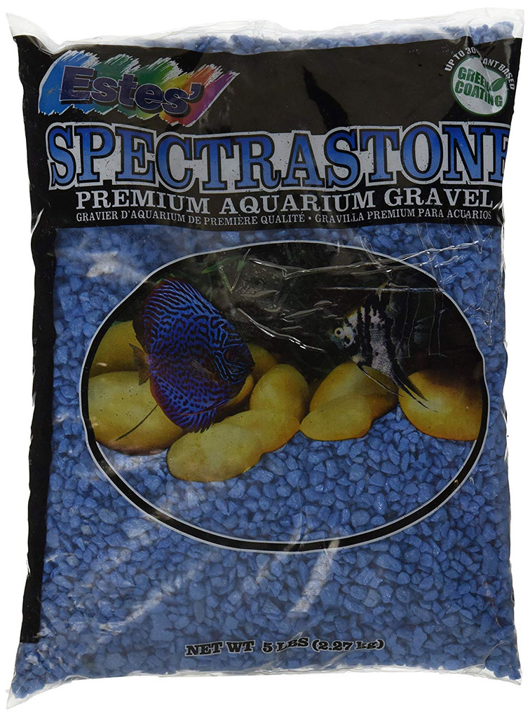 Estes Spectrastone Special Light Blue Aquarium Gravel 5 pounds