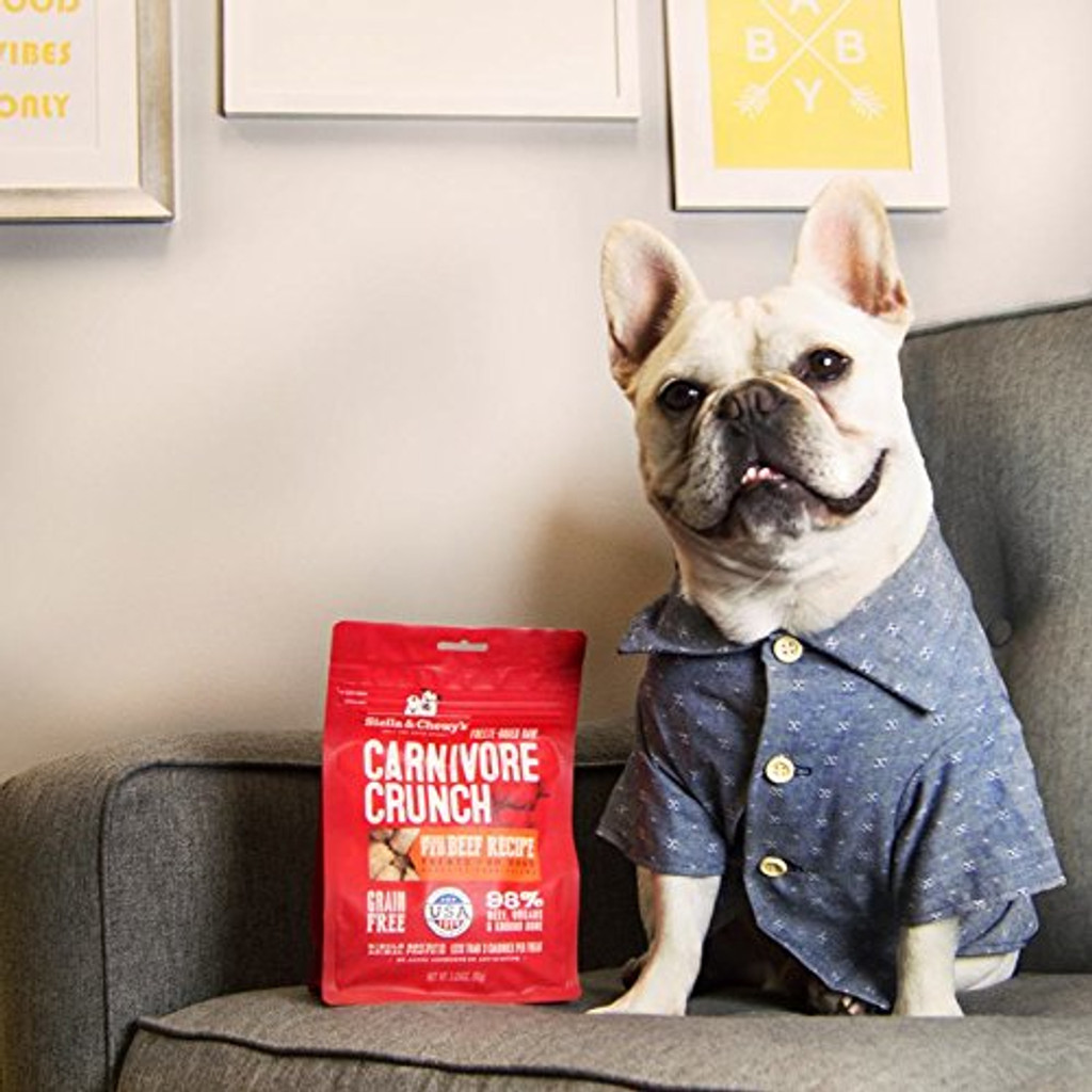 Stella and Chewy's Carnivore Beef Dog Treats All Natural Healthy 3.25 oz