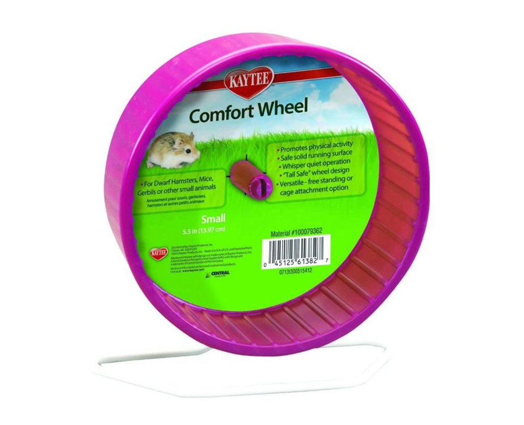 Kaytee Comfort Wheel - Provides Physical Activity for Small Animals, Colors Vary