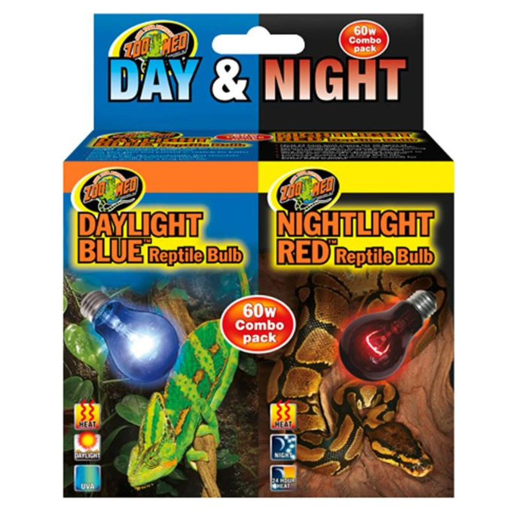 Zoo Med Day & Night Reptile Bulbs Combo Pack 60 watts
