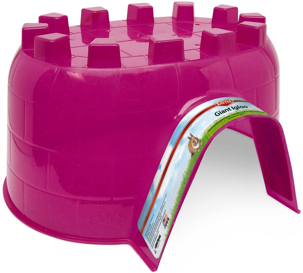 Kaytee Igloo Giant Hideaway Secure Resting Place for Small Animals, Colors Vary