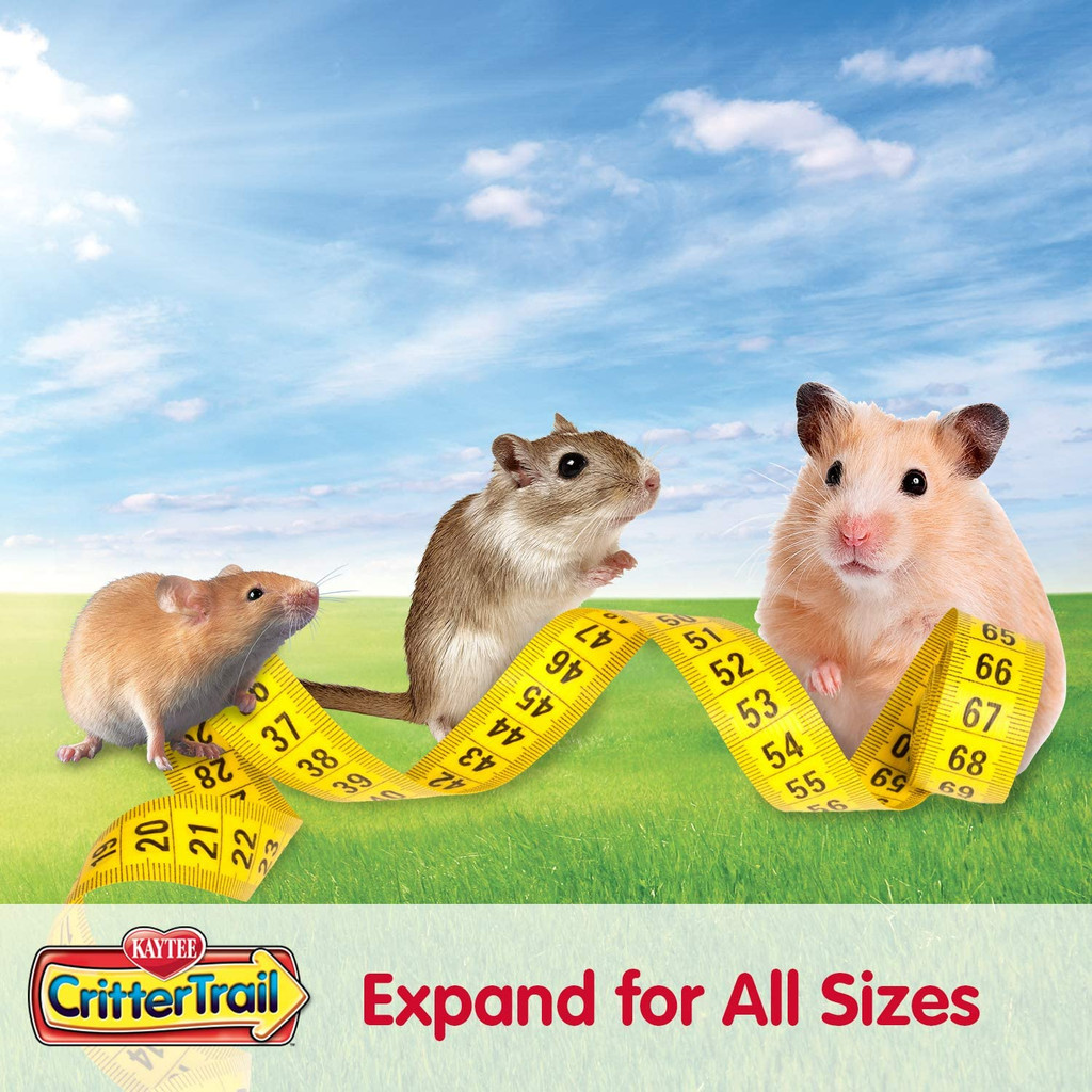 Kaytee CritterTrail Fun-nel Value Pack 16 Piece Assorted Colors and Tubes