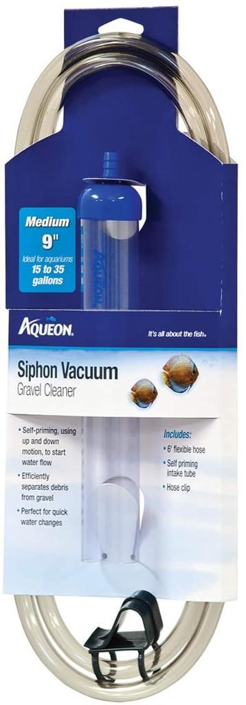 Aqueon Siphon Vacuum Aquarium Gravel Cleaner Medium - 9 Inches