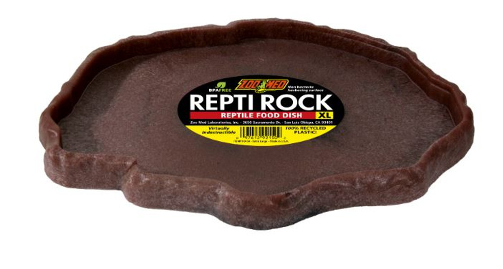 Zoo Med Repti Rock Food Dish for Reptiles X-Large Colors Vary