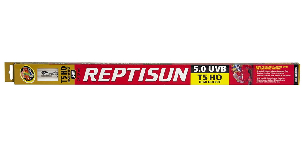 Zoo Med ReptiSun T5 High Output 5.0 UVB Lamp for Large Habitats 22-inch