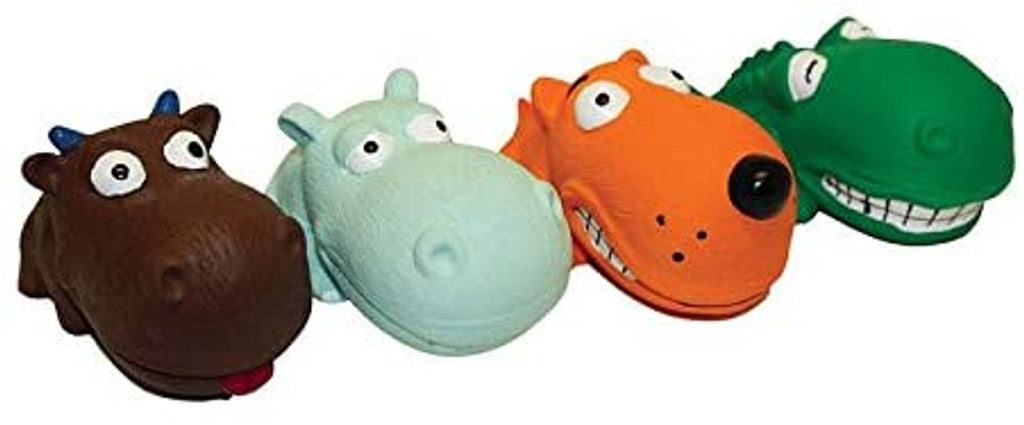 """Multipet Mini Latex Animals 3.5"""" Dog Toy - Assorted Colors and Animals"""