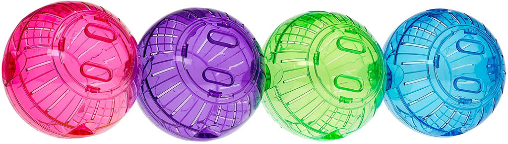 """Kaytee Run-About Ball 7"""" Rainbow Exercise Ball For Small Animals Assorted Colors"""
