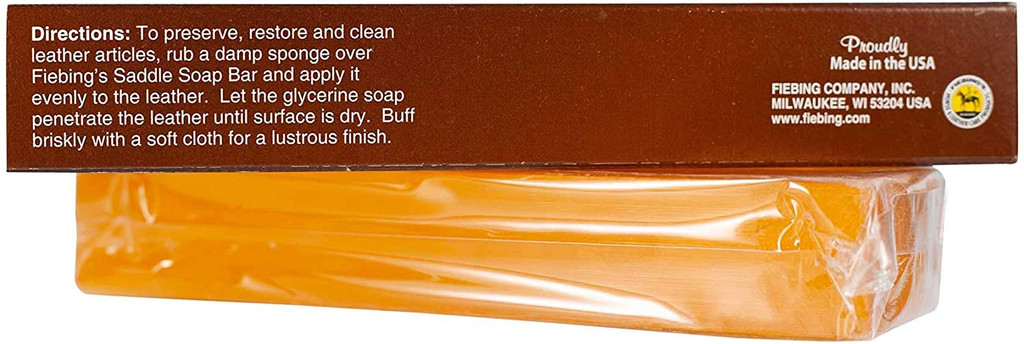 Fiebing's Glycerine Saddle Soap Bar Cleaning & Preserving Leather 7-Ounce