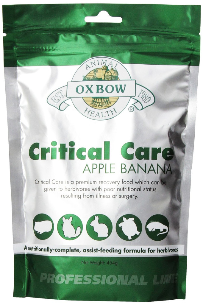 OXBOW Herbivore Critical Care Apple Banana Animal Supplement Feed Formula 454g