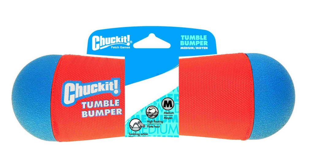Chuckit TUMBLE BUMPER Dog Fetch Toy Medium Random Bouncing Great Water and Land
