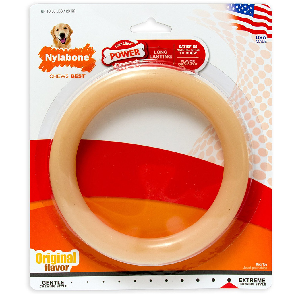 Nylabone DuraChew Ring Original Flavor Giant | Nylon Toy for Large Dogs