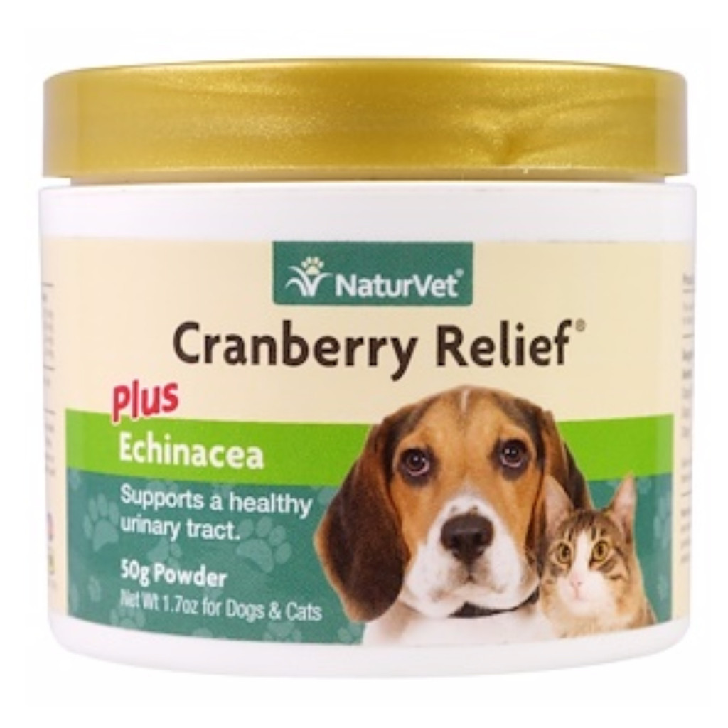 NaturVet CRANBERRY RELIEF Dog and Cat Remedy for Urinary Tract Infection 50 gram