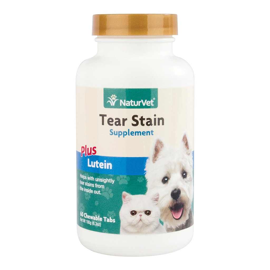 NaturVet TEAR STAIN Removal Dog and Cat All Natural Supplement 60 Tasty Tablets
