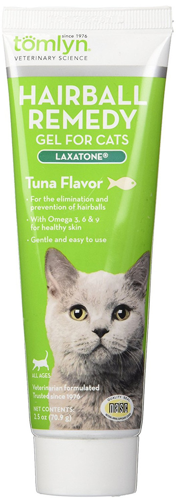 Tomlyn Laxatone Cat Hairball Treatment Tuna Great Tasting Lubricant 2.5 oz