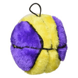 Ethical Pet Spot Plush Basketball 4.5 inch | Colorful Dog Toy with Squeaker
