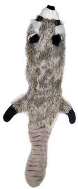 Ethical Pet Spot Mini Skinneeez Raccoon 14 inch | Plush Stuffing-Free Dog Toy