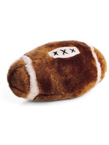 Ethical Pet Spot Plush Football 4.5 inch | Sport Style Dog Toy with Squeaker