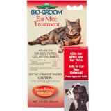 Bio-Groom Natural Ear Mite Treatment 1 oz | Aloe Vera | For Pets of All Ages