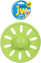 JW Pet Whirlwheel Flying Disc Natural Rubber Wheel Interactive Fun Dog Toy Large