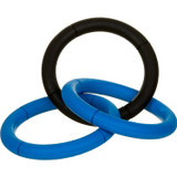 JW Pet INVINCIBLE CHAIN Three 6-inch Rings Dog Rubber Tug and Fetch Toy Large