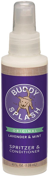 Buddy Splash Spritzer and Conditioner Lavender Mint 4 oz | Deoderizer for Dogs