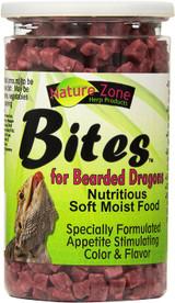 Nature Zone Juvenile Bearded Dragon Bites Nutritious Soft Moist Pet Food 9 oz