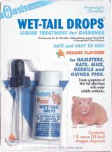Oasis Wet Tail Drops Orange 1 oz | Liquid Diarrhea Treatment | For Small Animals
