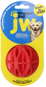 JW Pet Megalast Ball Medium | Colorful Thermo Plastic Rubber Dog Toy