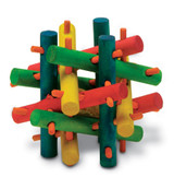 Kaytee Knot Nibbler Mini | Colorful Wooden Chew Toy for Small Animals
