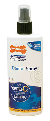 Nylabone Advanced Oral Care Dental Spray 4 ounce | Breath Freshener for Dogs