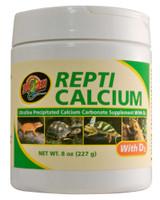 Zoo Med Repti Calcium Carbonate Supplement D3 Ultra Fine 8 oz Phosphorus Free