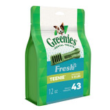 Greenies Fresh Mint Teenie Size 43 count 12 oz | Dental Chew Treats for Dogs