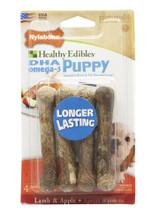 Nylabone Healthy Edibles Puppy | Lamb & Apple Petite | 4 Treat Bones