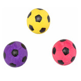 Ethical Pet Spot Soccer Ball 2 inch | Colorful Latex Squeaker Dog Toy