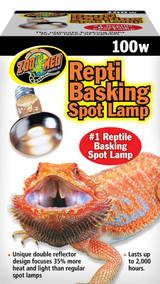 Zoo Med Repti Basking Spot Lamps 100W Unique Patented Double Reflector Beam
